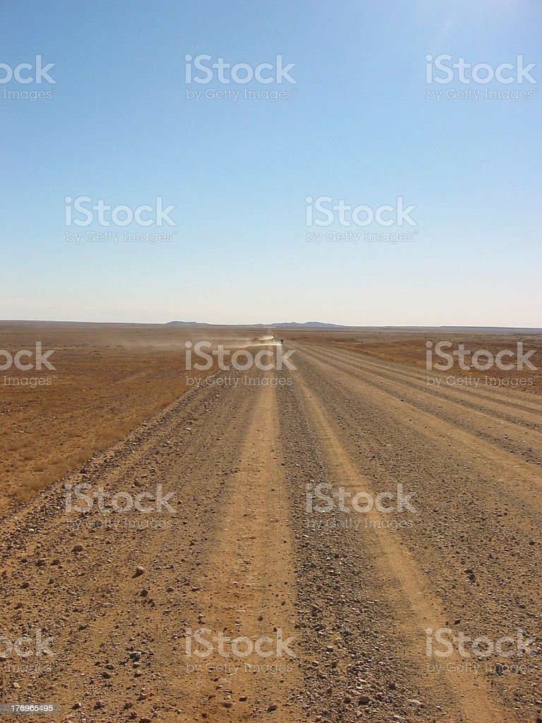 Outback Long Road royalty-free stock photo