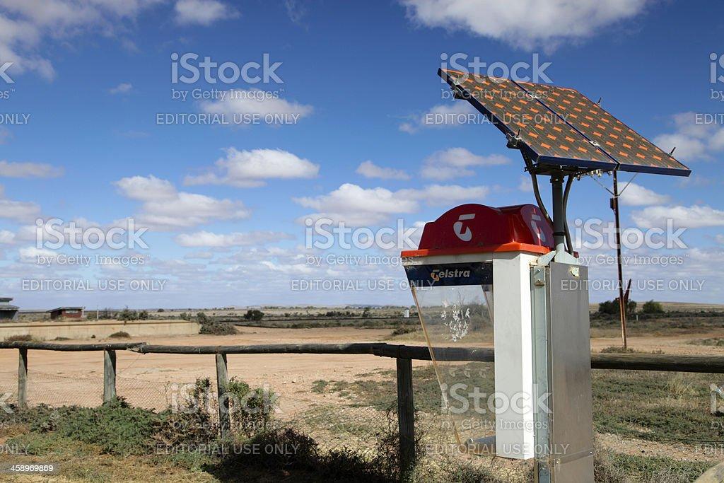 Outback Public Telephone royalty-free stock photo