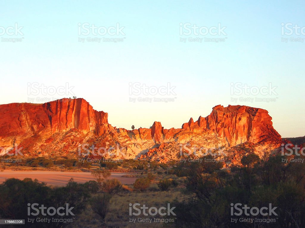 Outback Rainbow Valley stock photo