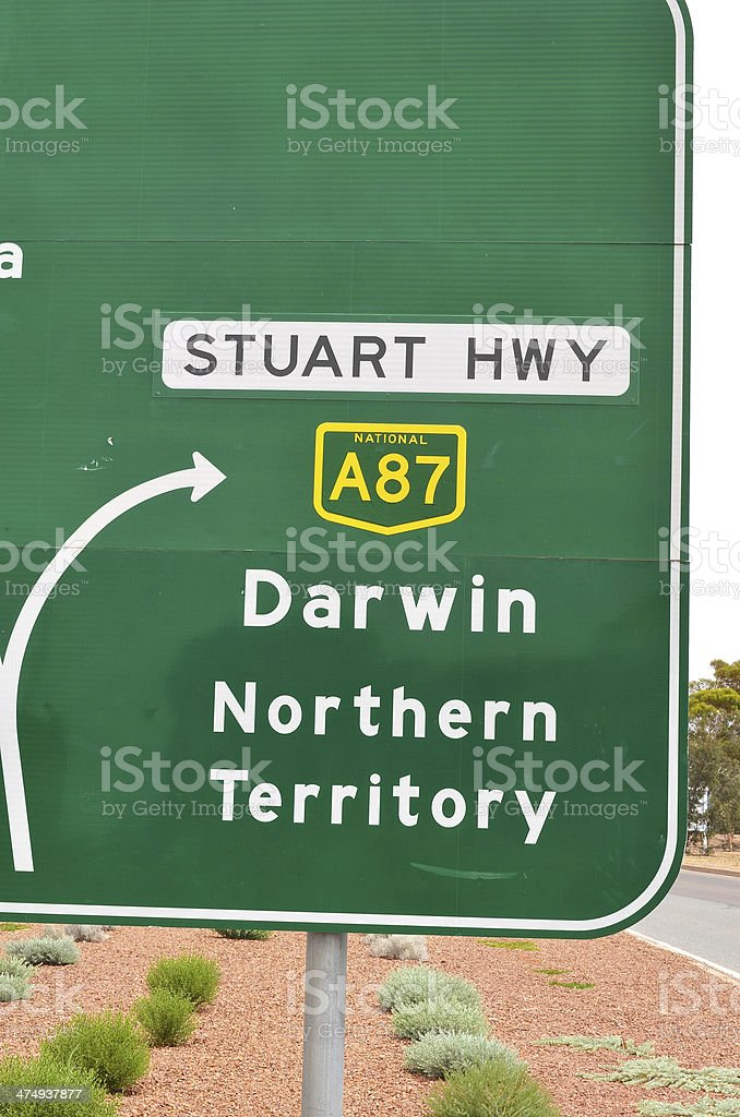 Outback road sign royalty-free stock photo