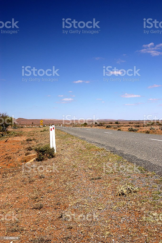 Outback Roadside royalty-free stock photo