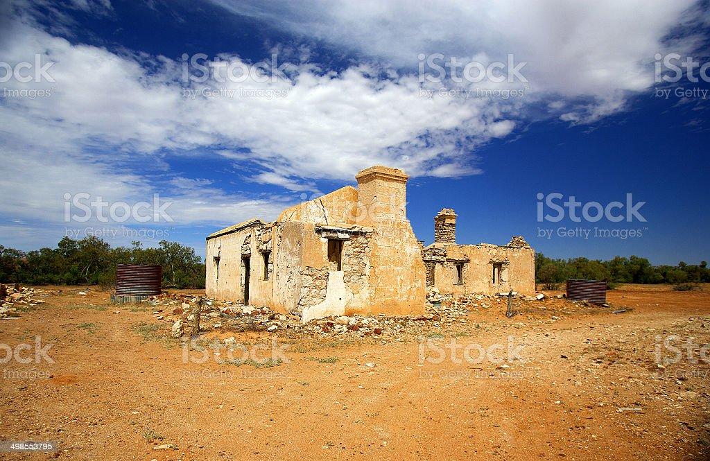 Outback Ruin, Simpson Desert, Australia stock photo