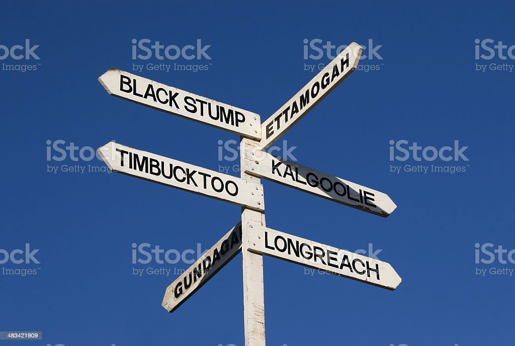 Outback Sign royalty-free stock photo