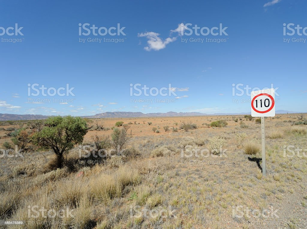 Outback Speed Limit royalty-free stock photo