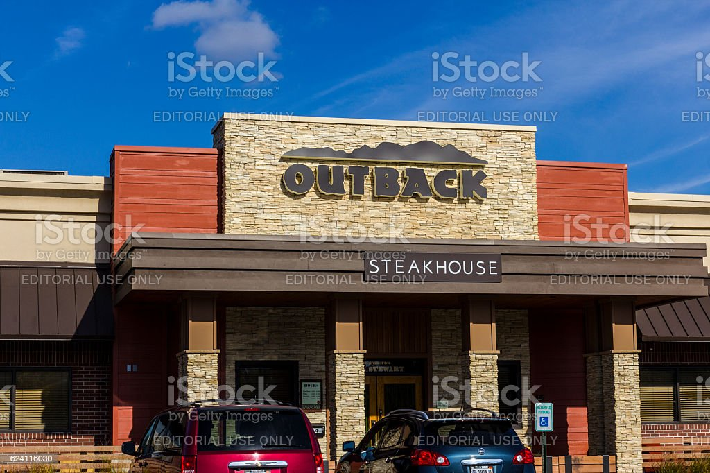 Outback Steakhouse Restaurant Location V stock photo