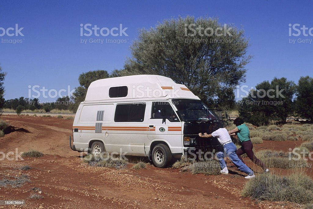 Outback Trouble stock photo