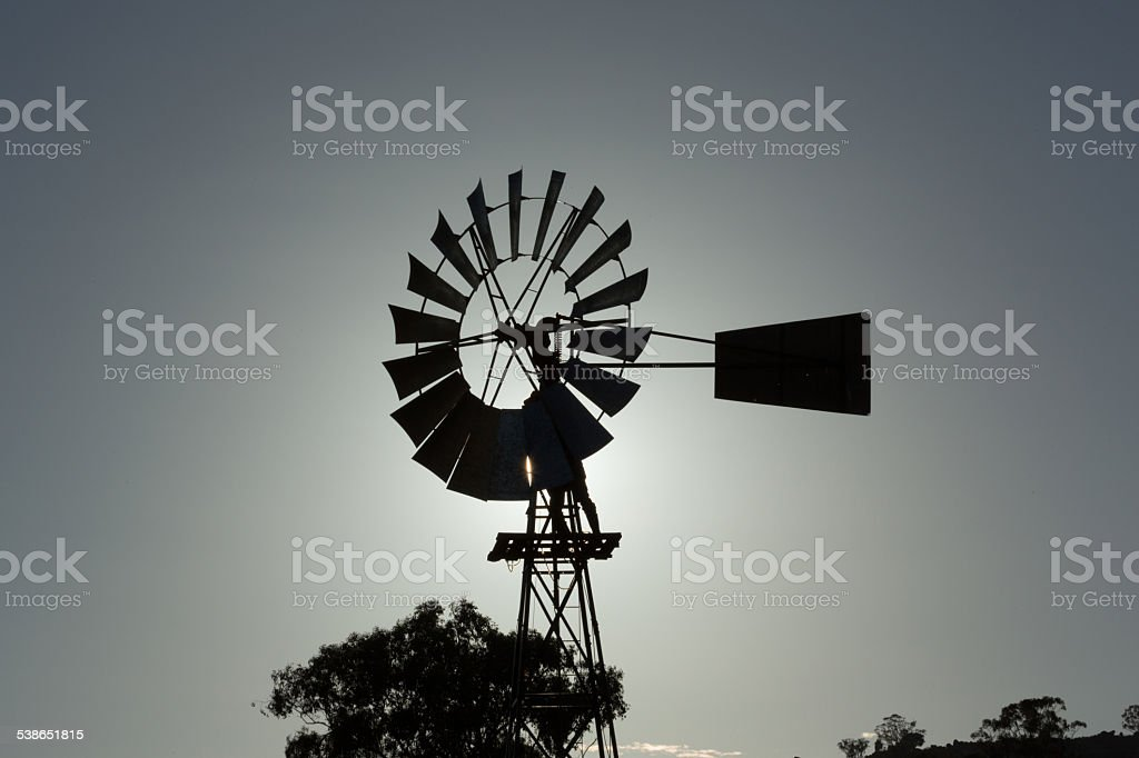 Outback Windmill Repair stock photo