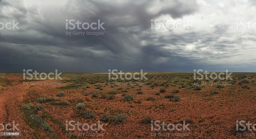 Outback with Clouds stock photo