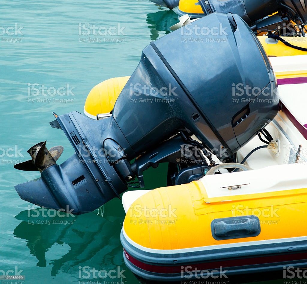 outboard engine stock photo