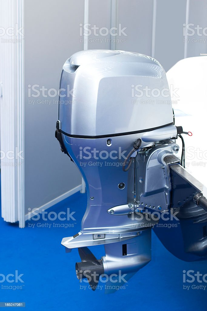 Outboard motor stock photo