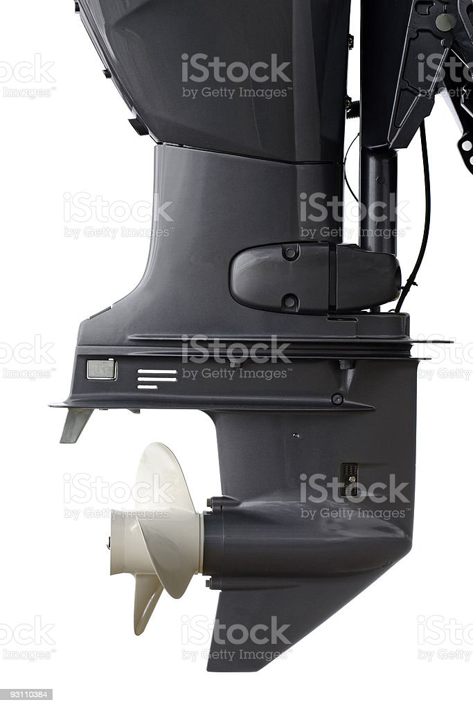Outboard royalty-free stock photo
