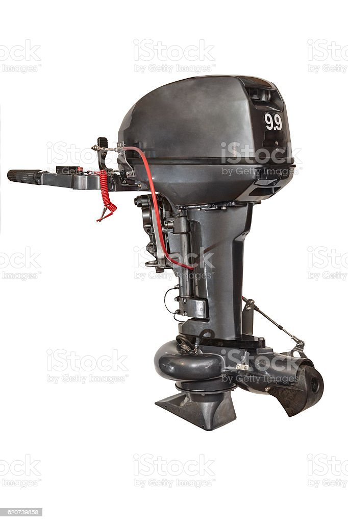 Outboard water-jet motor stock photo