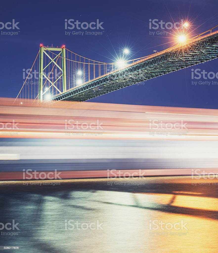 Outbound Container Ship stock photo