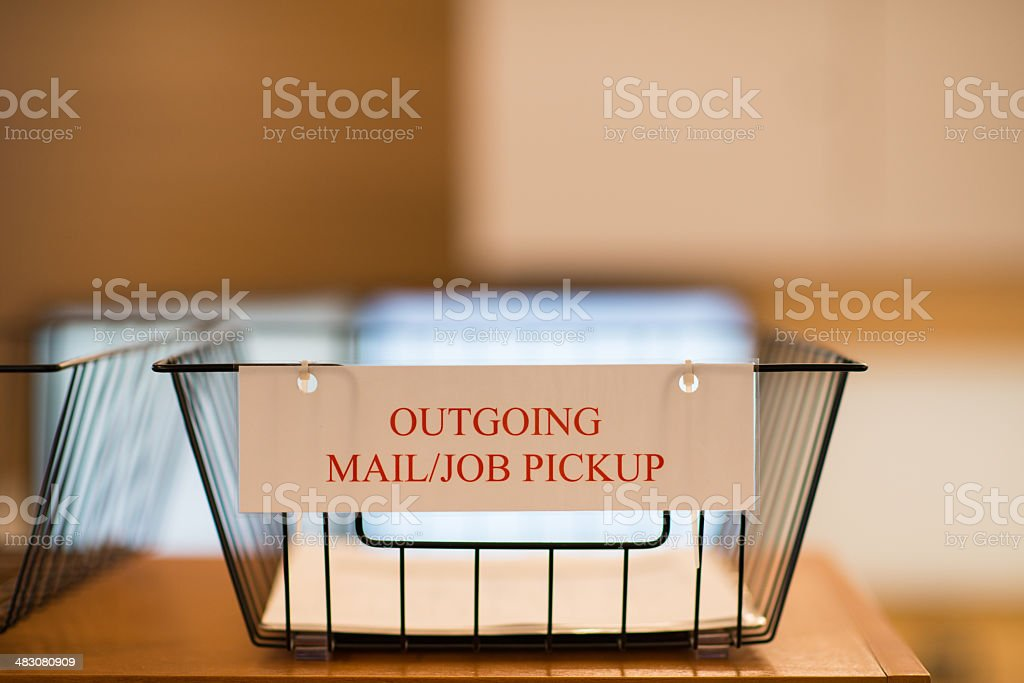 Outbox stock photo