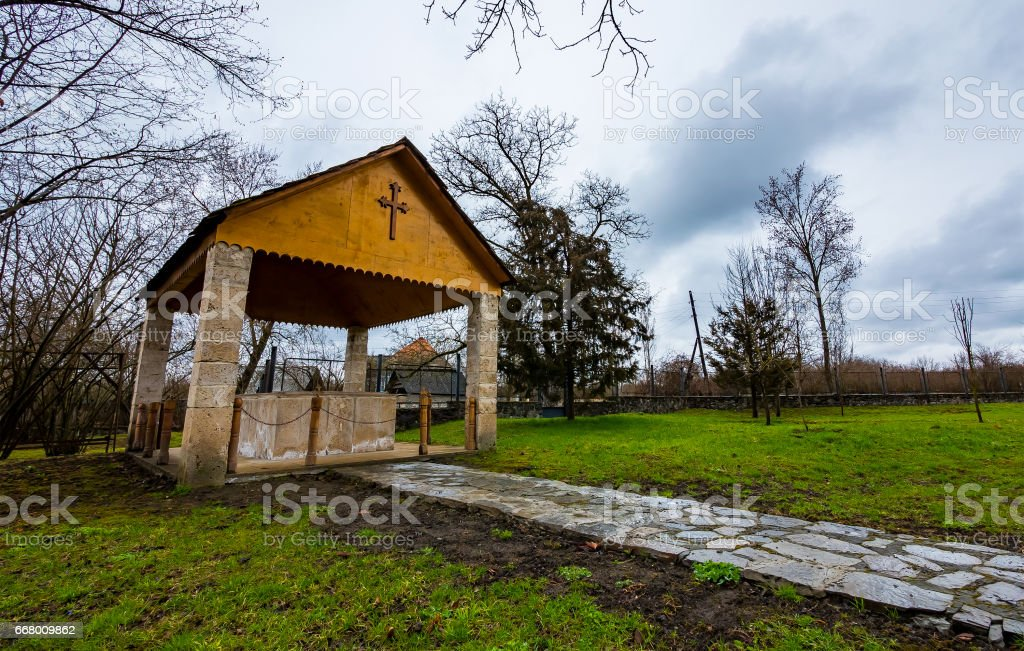 Outbuilding of the Church stock photo