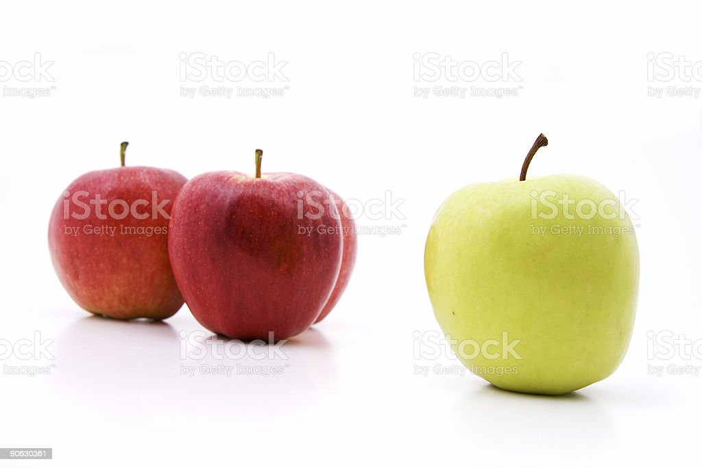Outcast apple royalty-free stock photo