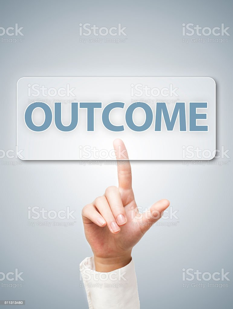 Outcome / Touch screen concept (Click for more) stock photo