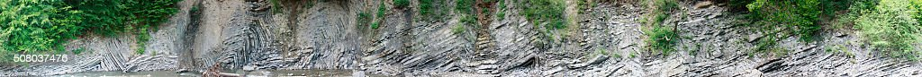 Outcrop of flysch stock photo
