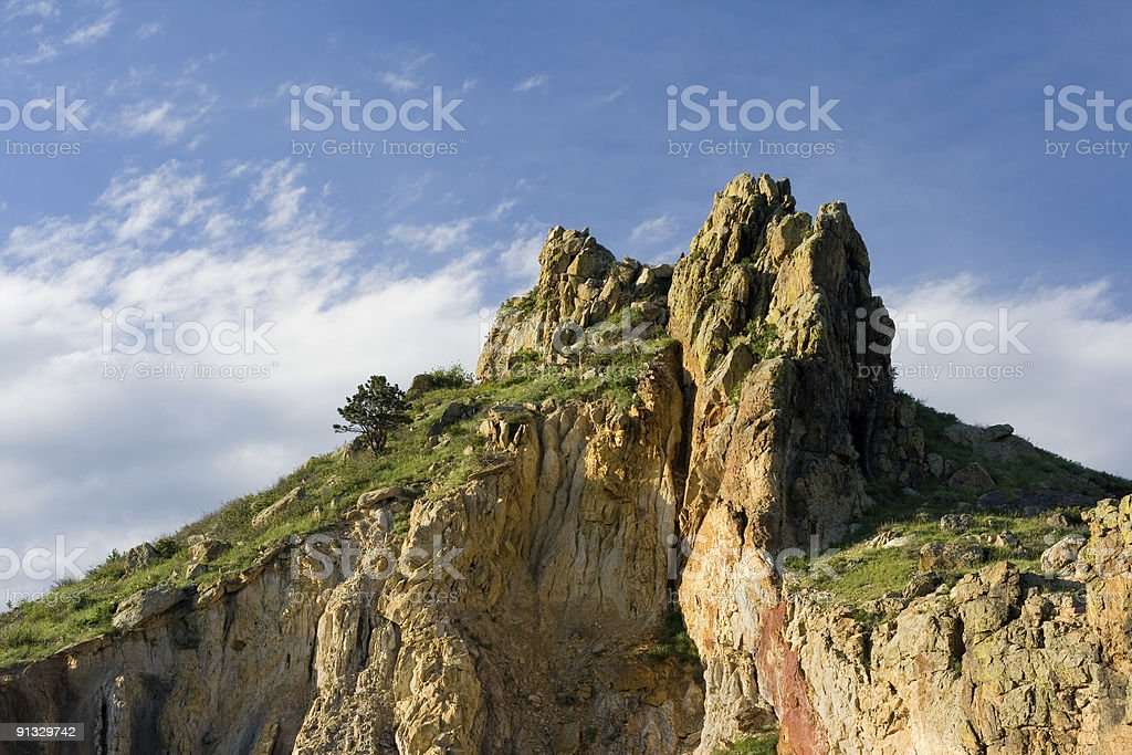 Outcropping of Rock royalty-free stock photo