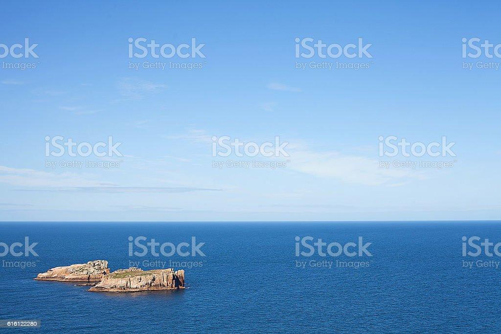 Outcrops in Ocean stock photo