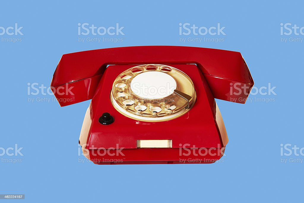 outdated red phone royalty-free stock photo