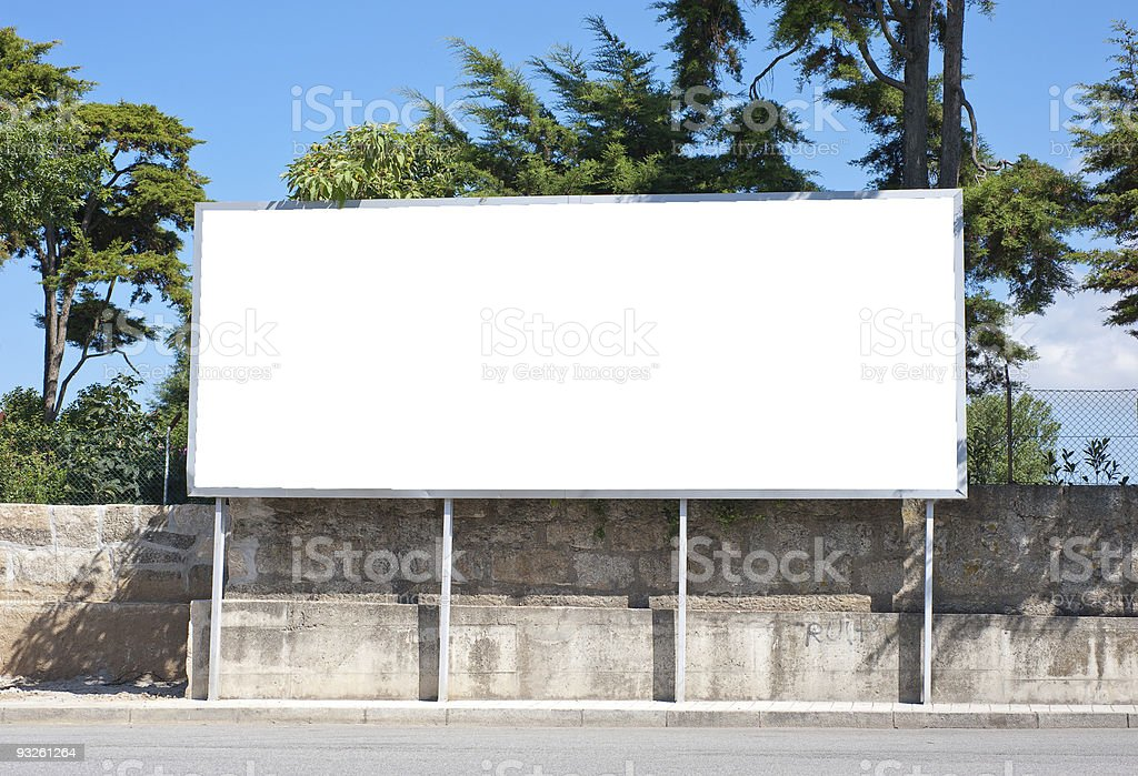 Outdoor advertising construction royalty-free stock photo
