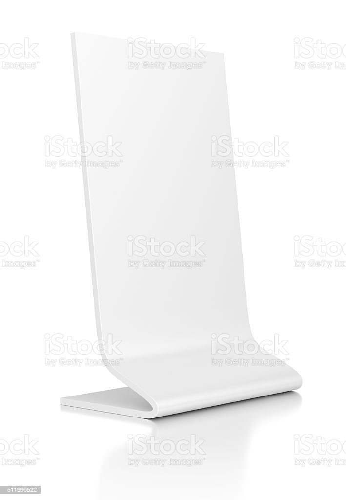 Outdoor advertising stand banner on white background. stock photo