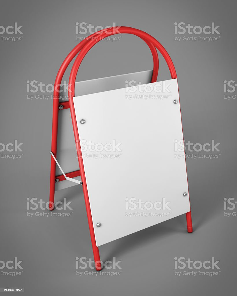 Outdoor advertising stands for your design. Promotional rack in stock photo