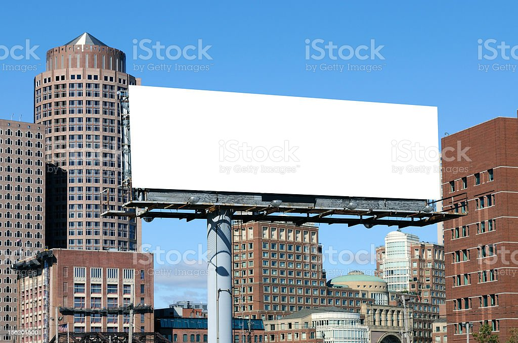 Outdoor Advertising with Urban Background stock photo
