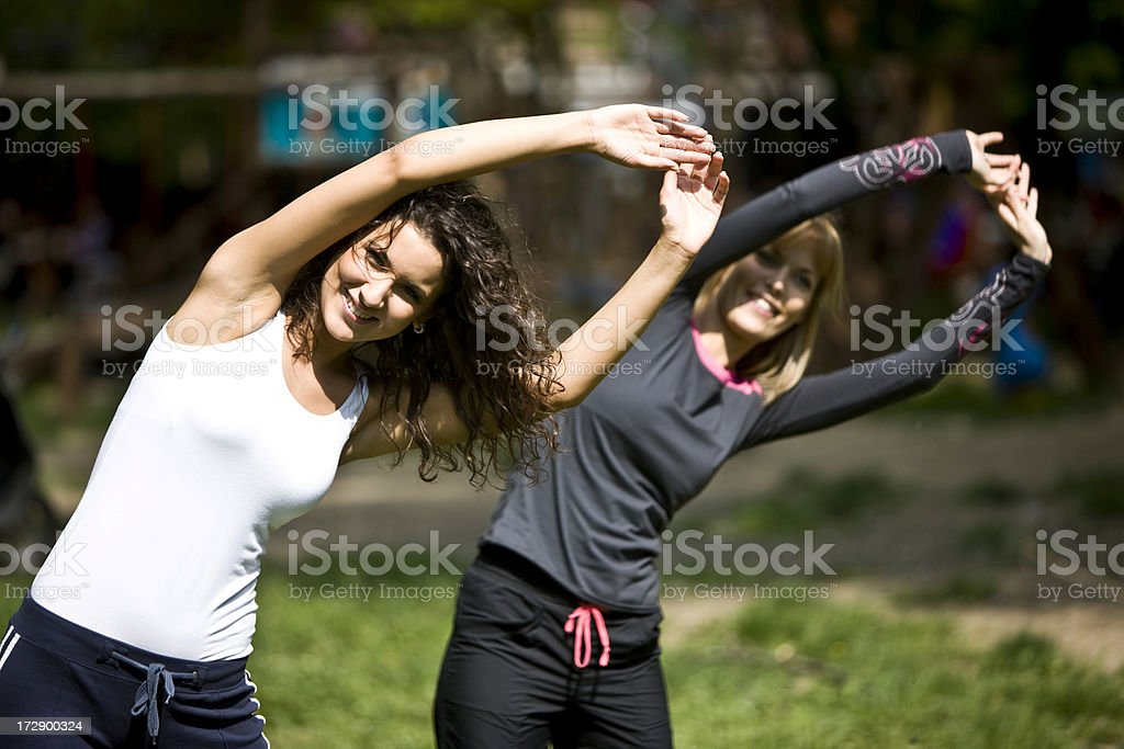 Outdoor aerobics XXL royalty-free stock photo