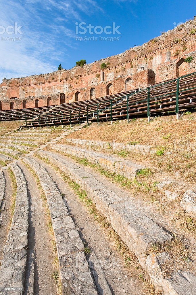 outdoor antique amphitheatre stock photo