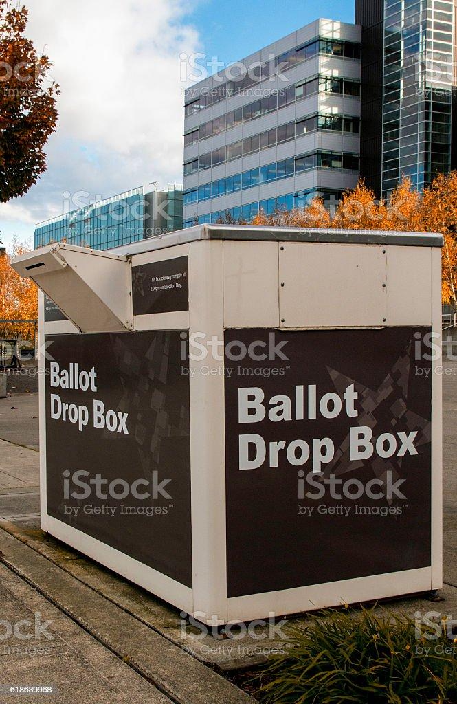 Outdoor Ballot Drop Box stock photo