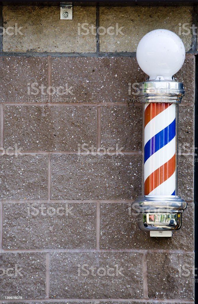 Outdoor Barber Pole royalty-free stock photo