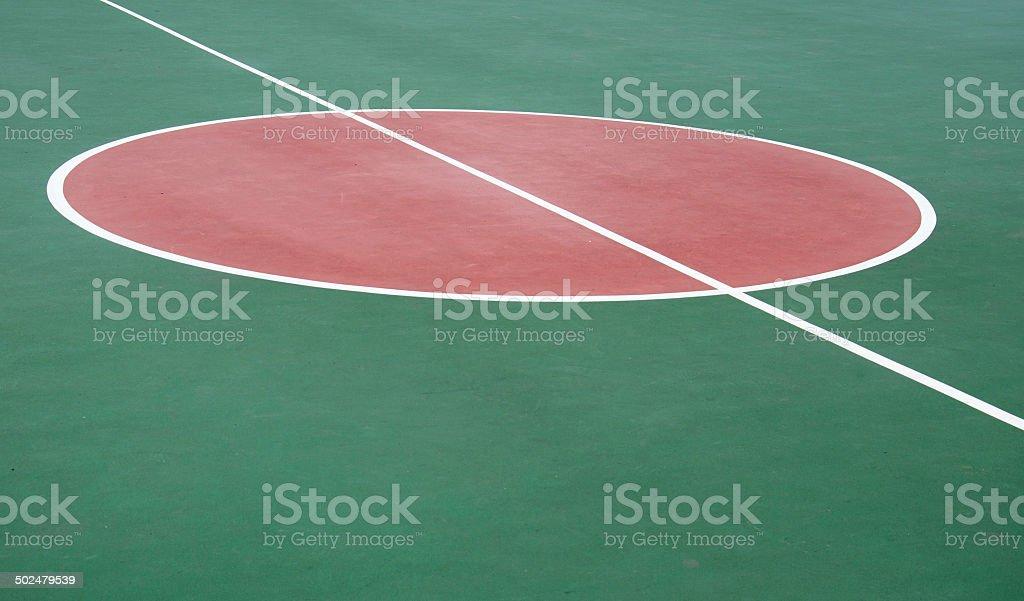 Outdoor basketball court stock photo