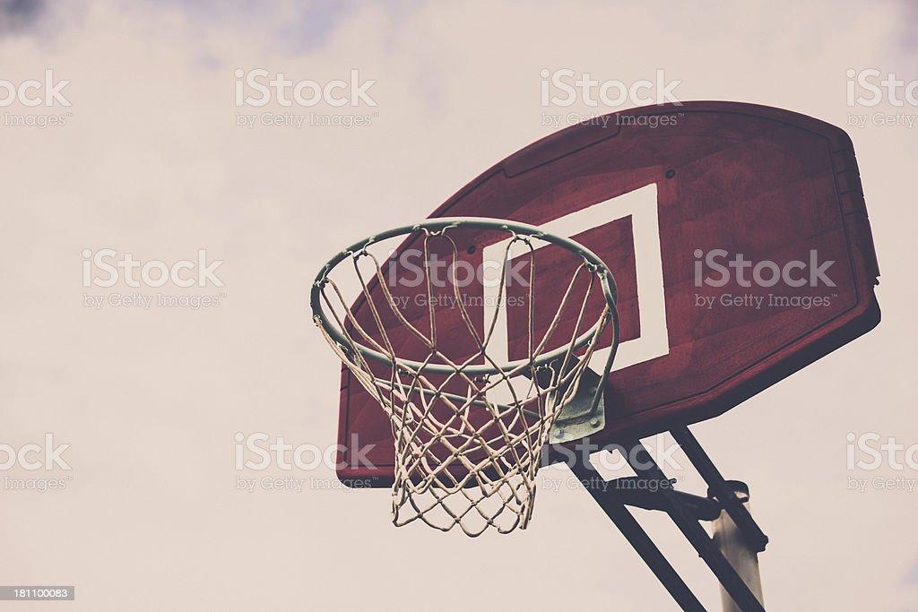 Outdoor Basketball Hoop royalty-free stock photo