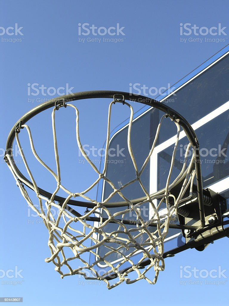 Outdoor Basketball net royalty-free stock photo