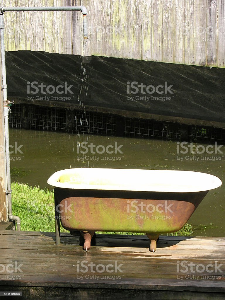Outdoor Bath and Shower stock photo