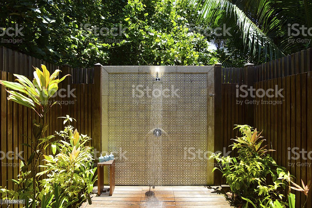 Outdoor Bathroom stock photo