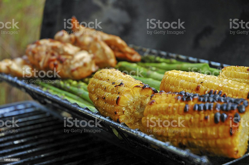 Outdoor BBQ 2 stock photo