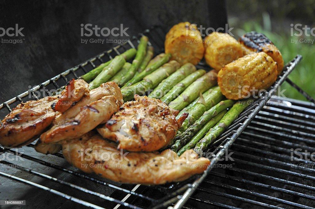 Outdoor BBQ stock photo