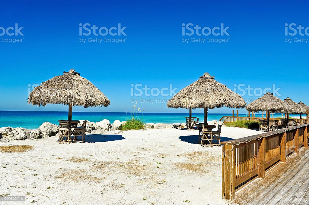 Outdoor Beach Bar stock photo