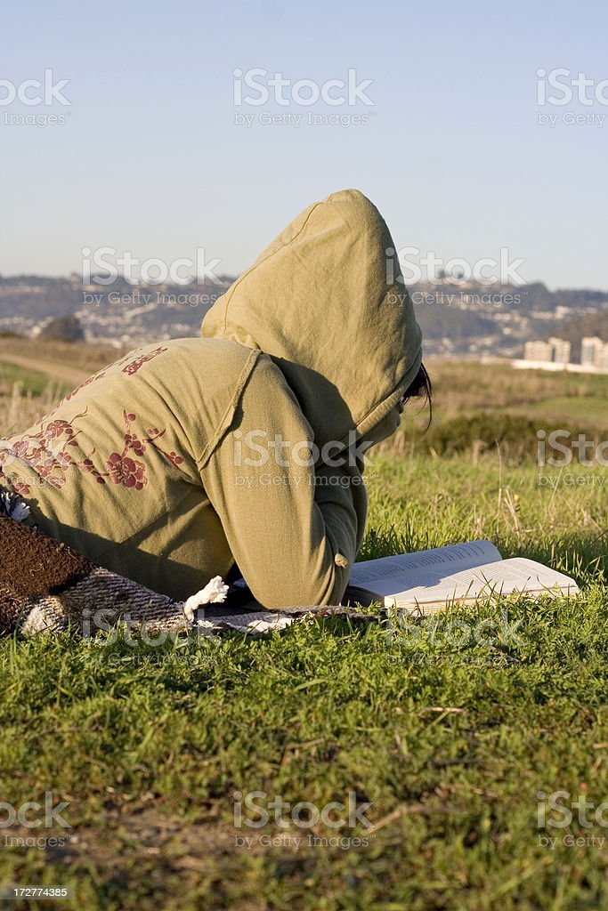 Outdoor Bible Reading stock photo