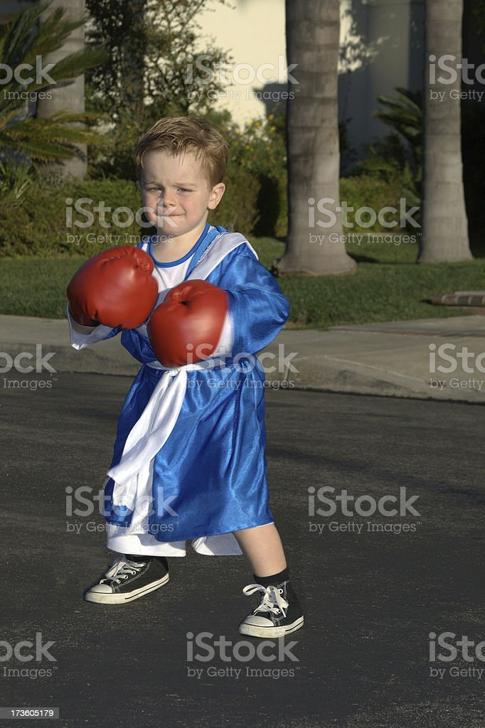 Outdoor boxing royalty-free stock photo
