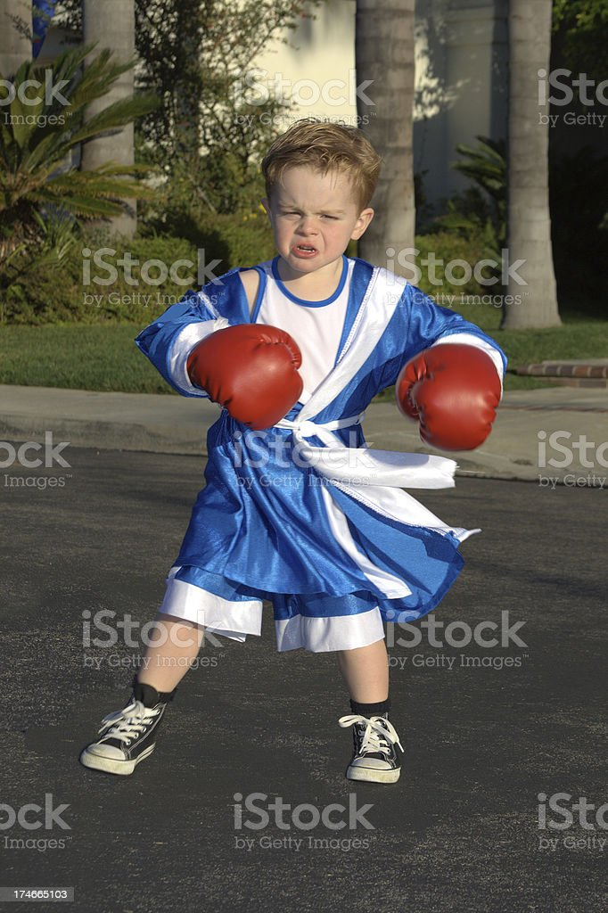 Outdoor boxing stock photo