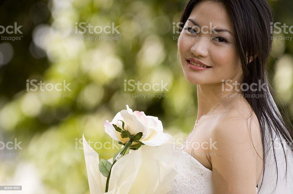 Outdoor Bride 4 stock photo