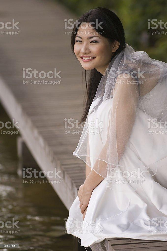 Outdoor Bride 6 royalty-free stock photo