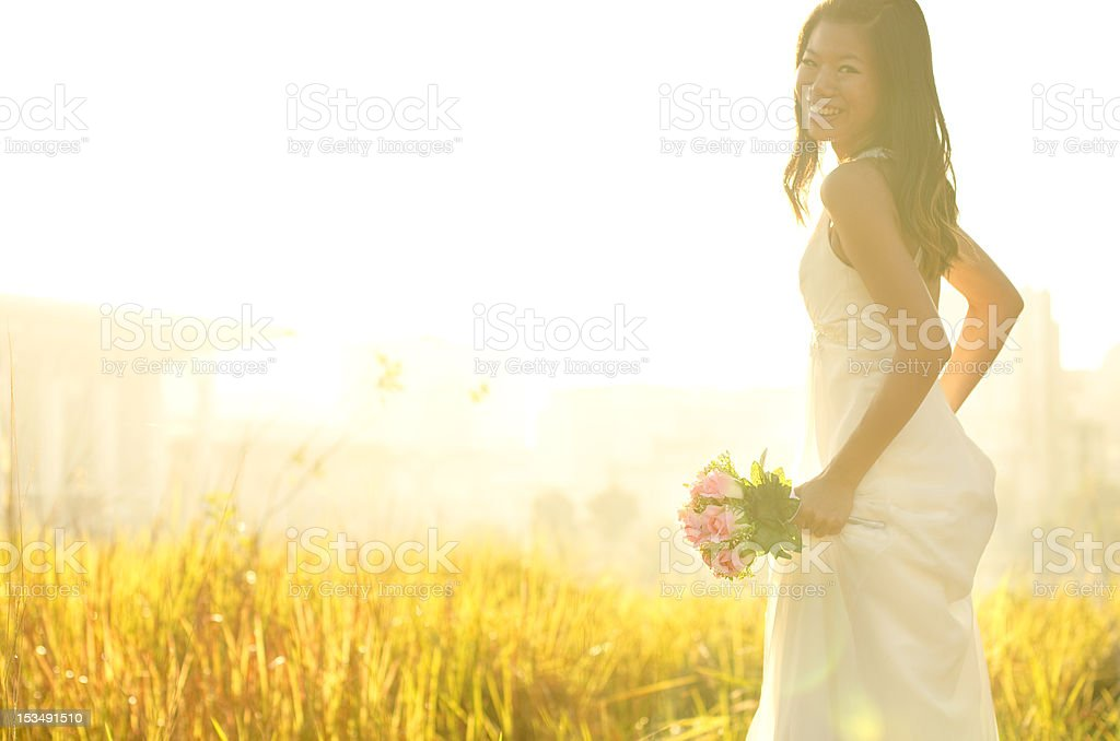 Outdoor Bride stock photo