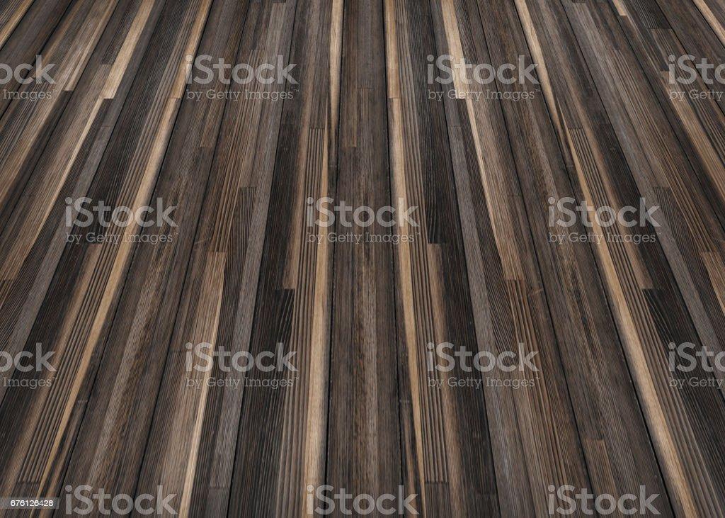 Outdoor brown wooden floor stock photo