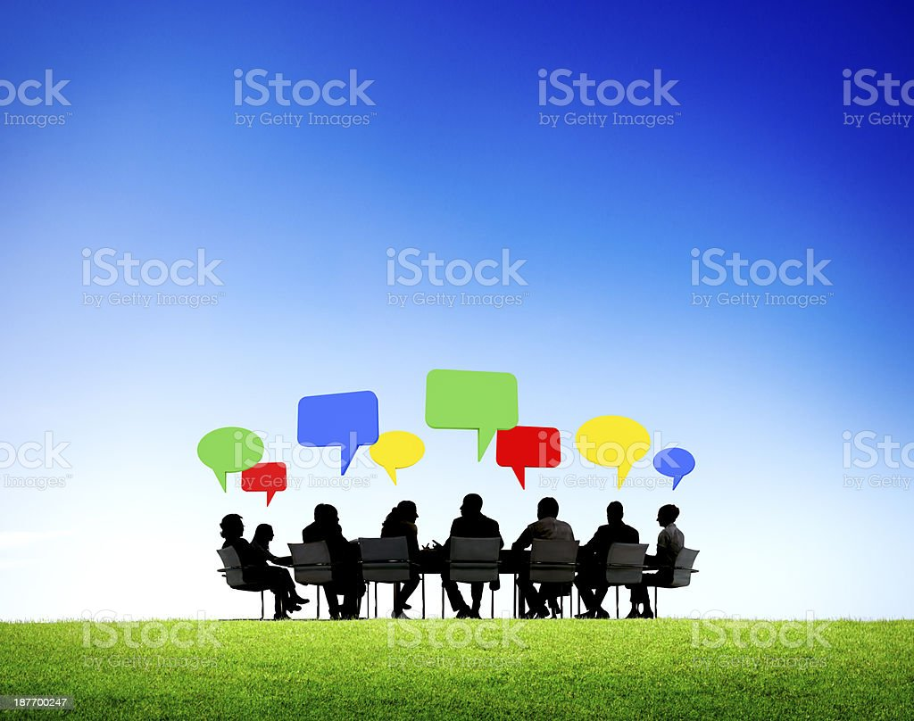 Outdoor Business Meeting royalty-free stock photo