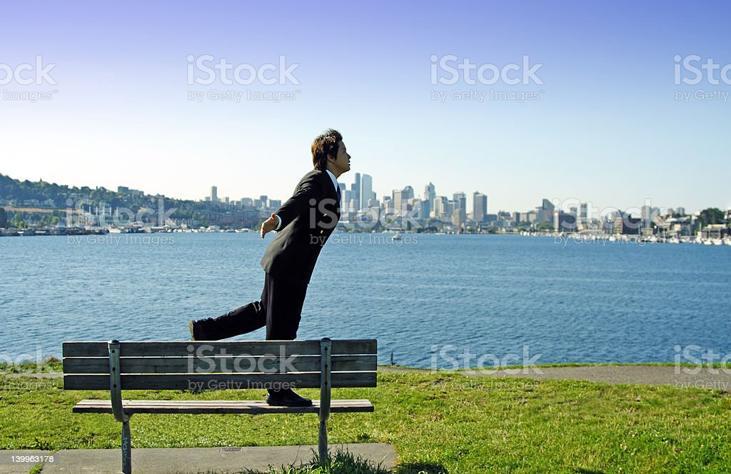 Outdoor businessman royalty-free stock photo